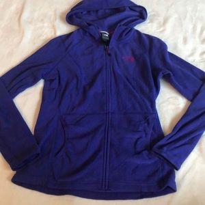 North face fleece zip up hoodie